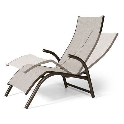 Telescope Casual Maxx Countour Reclining Chaise Lounge Finish: Textured Aged Bronze, Fabric: Bristol
