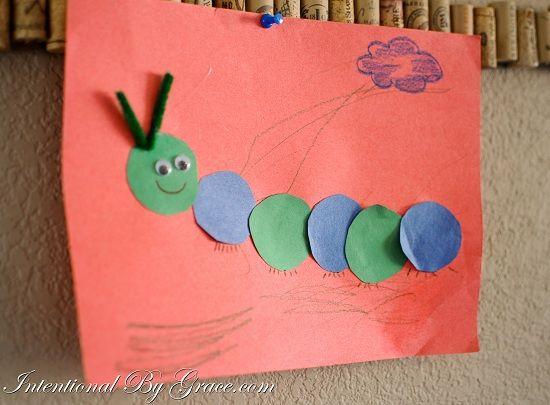Simple Toddler Craft - Shape Theme Circle Catepillar