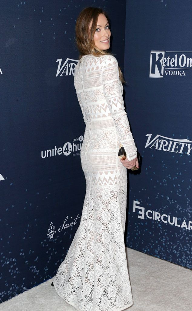 Olivia Wilde from The Big Picture: Today's Hot Pics  Lovely lace! The star looks super glam at the Unite4:Humanity Galain Beverly Hills.