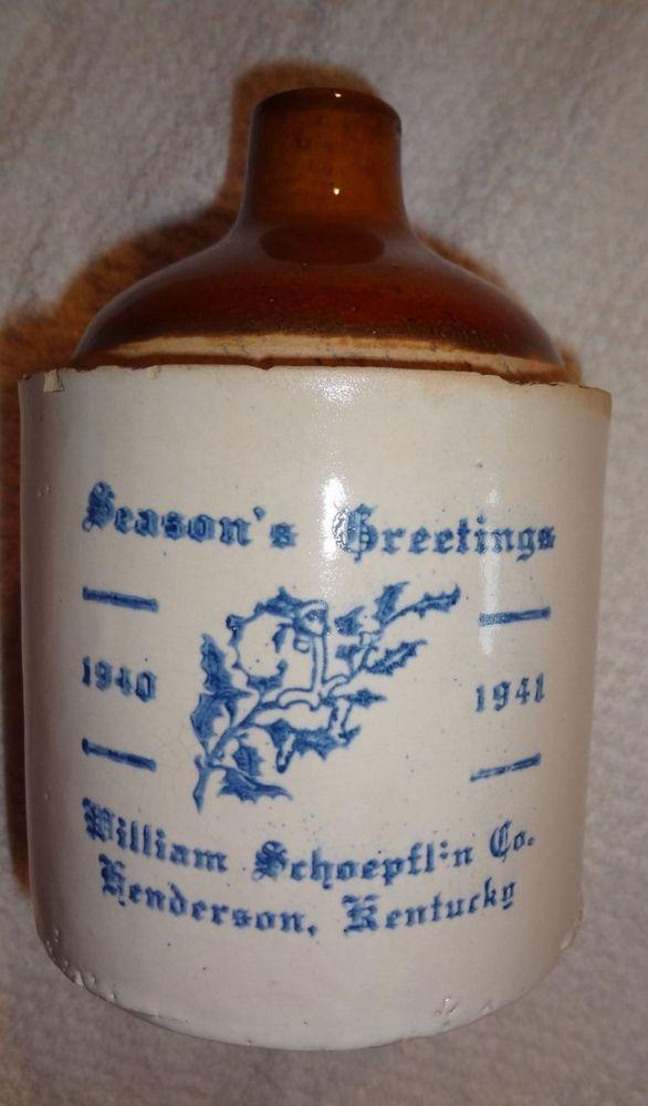 Advertising stoneware jug Henderson Kentucky 1941 William