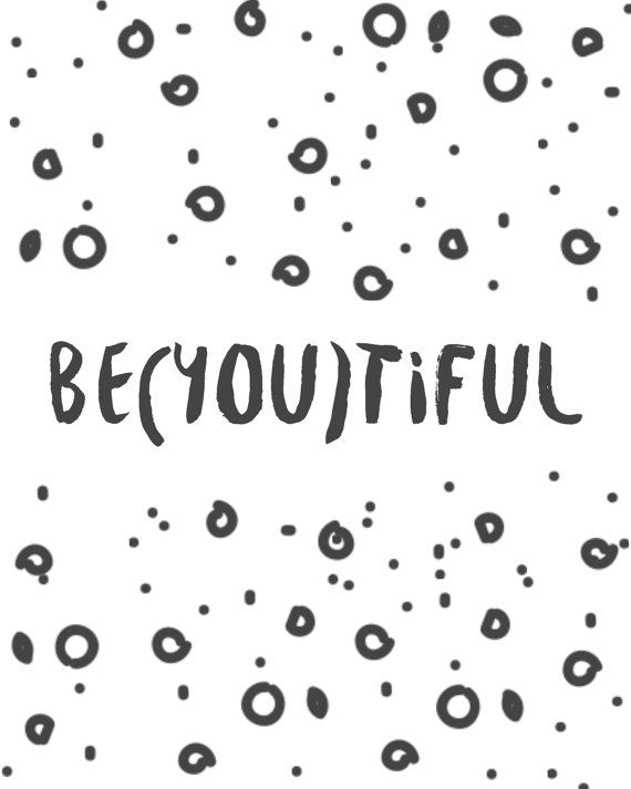 BEYOUTIFUL typography print, inspirational quote printable wall art for girlbosses by BlossomBloomDesign