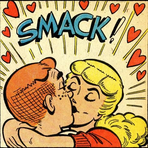 Archie Comics Retro: Archie and Betty Comic Panel; Smack! (Aged ...