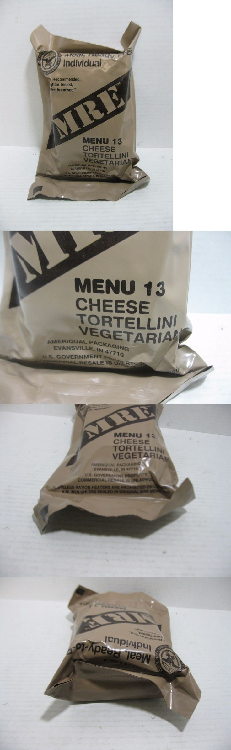 Food And Drink: Mre Menu 13 Cheese Tortellini Vegetarian Sealed Ready To Eat Meal BUY IT NOW ONLY: $19.95