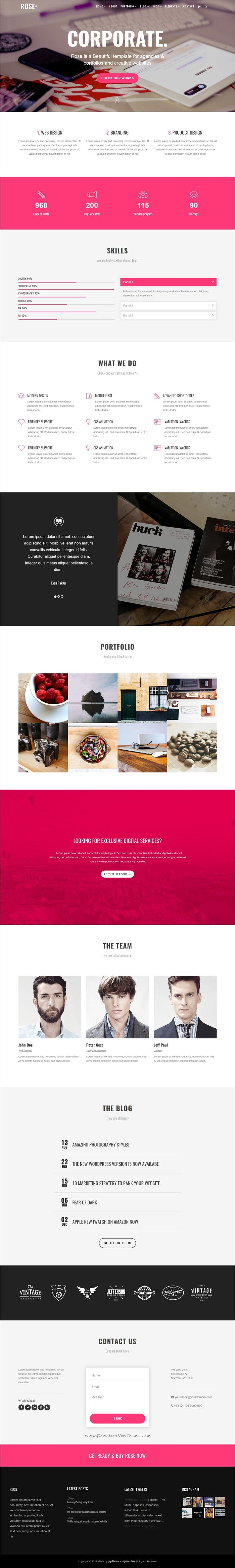 Rose is a multipurpose responsive onepage #Joomla template for stunning #corporate website with 12+ homepage layouts download now➩ https://themeforest.net/item/rose-multipurpose-responsive-one-page-joomla-theme/19559598?ref=Datasata