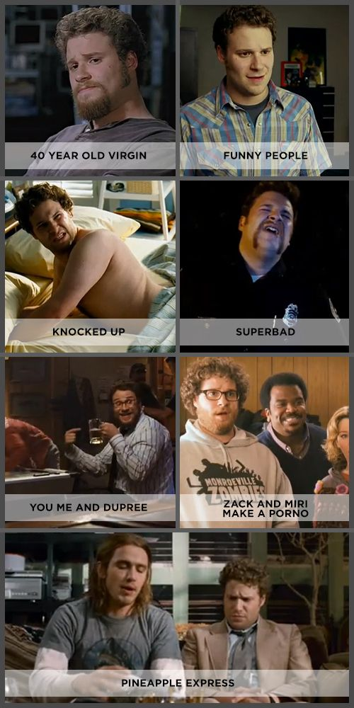 Seth Rogen in a thousand different movies and they are all awesome.  Okay, don't have to watch You, Me and Dupree. Or Zack and Miri.