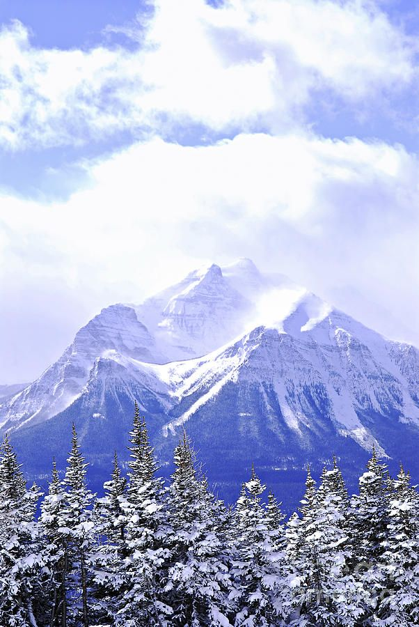 25 Best Snowy Mountain Art Adult Images On Pinterest