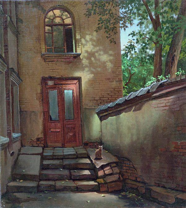Художник рисует двери г.москва картинки, картинками про