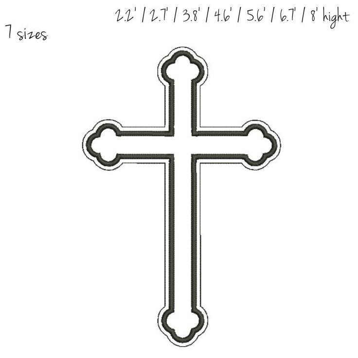 christian cross wedding symbols Embroidery machine pattern digital download by GretaembroideryShop on Etsy