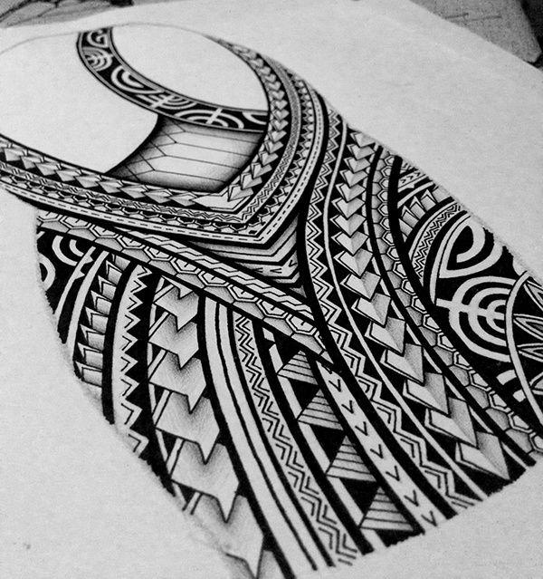 I created a Polynesian half sleeve tattoo design for my ...  I created a Pol...