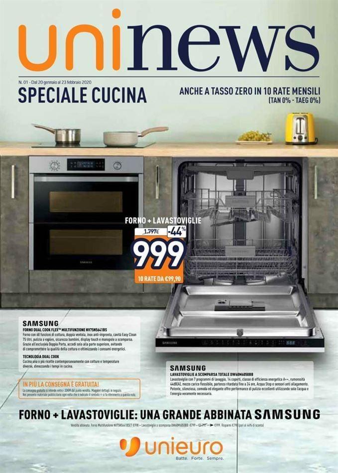 Speciale Cucina Unieuro il volantino di forni e