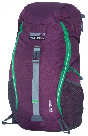 #High Peak #Victoria 24L  This beautiful purple backpack of 24 liters can be used both at the camp and on the dance floor during dubstep :). This model is light and fits much. With neatly on the sides for beverage bottles or program booklets. Rain cover included. http://www.festivalking.com/be/op-reis/rugzakken/dag-rugzakken/high-peak-victoria-24l.html