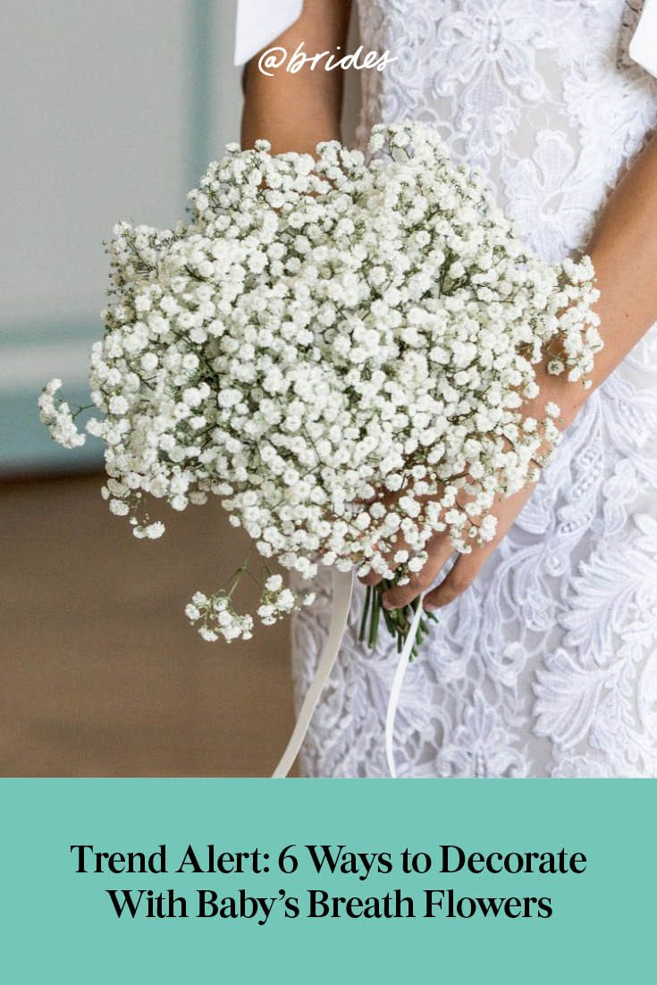 Trending 18 Beautiful Ways To Use Baby S Breath In Your Wedding Decor Wedding Baby S Breath Wedding Flowers Wedding Rose Gold Theme