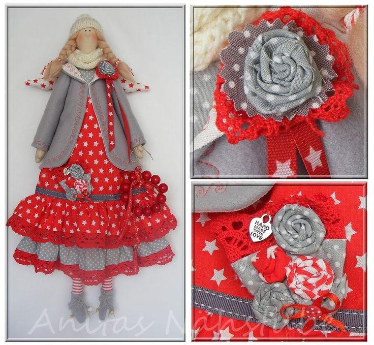 Engel ♥ Tilda -Stil ♥ Weihnachten ♥ Shabby Handarbeit ♥ Kranz