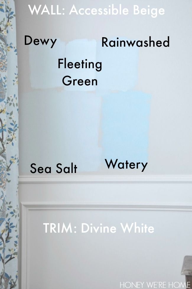 Choosing paint for the dining room sherwin williams sea for Watery paint color