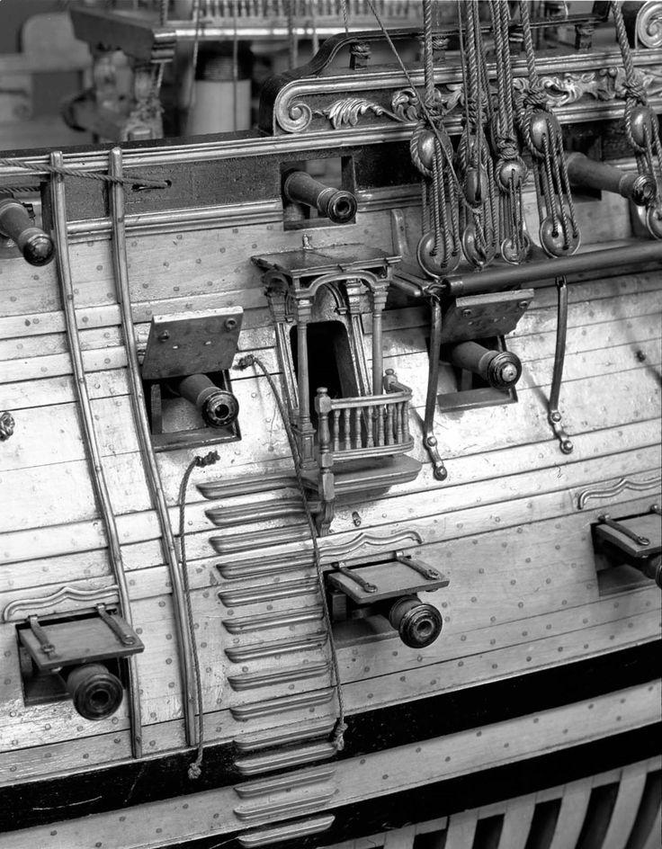 100-gun ship of the line 1715 3/16 in / Museum of Fine Arts Boston