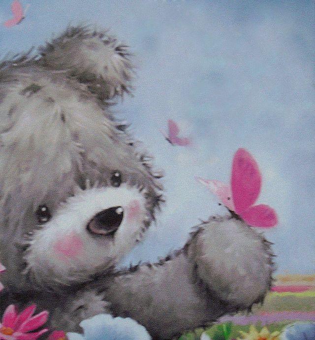 Надписью, картинка с медвежонком скучаю