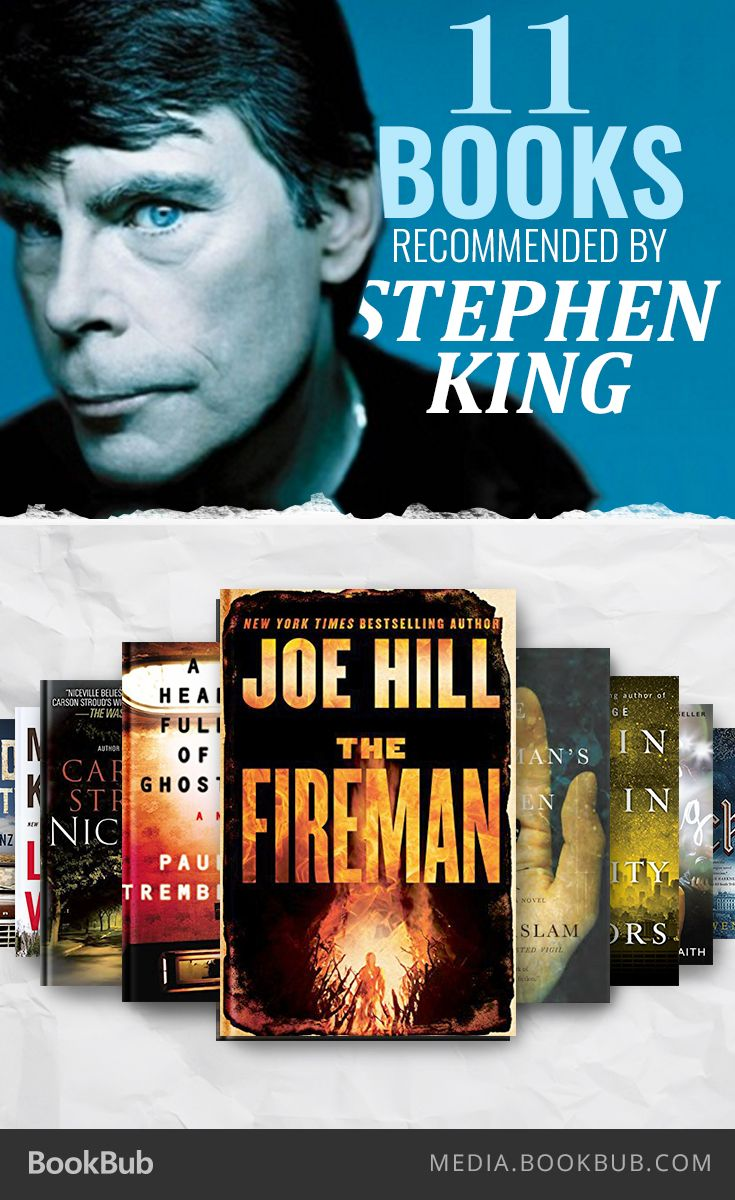 11 book recommendations from the King of horror himself.