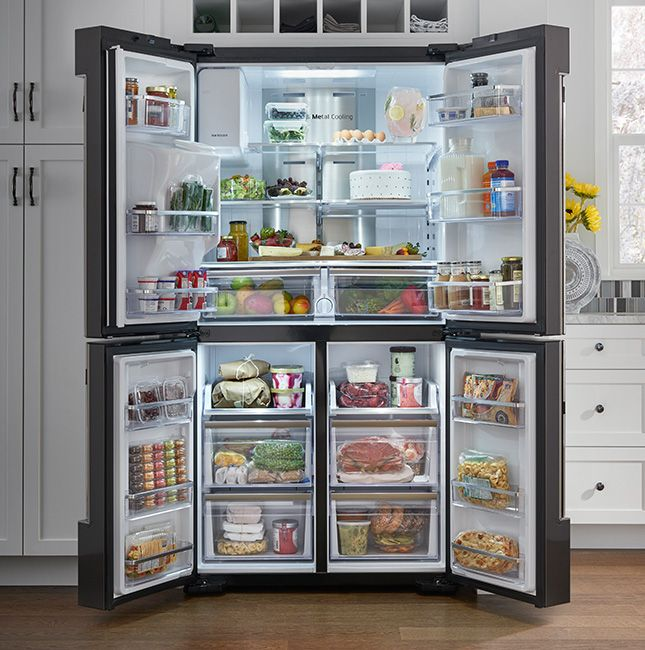 The Family Hub™ is a revolutionary new refrigerator with a Wifi enabled touchscreen that lets you manage your groceries, connect with your family and entertain like never before.