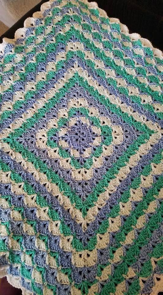 Beautiful Shells Crochet Baby Blanket Toddler Or Lapghan Crochet