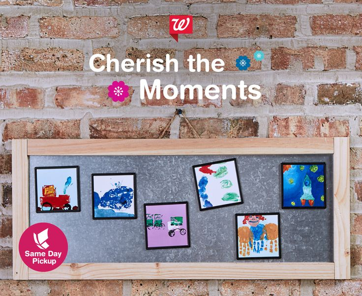 Print your kids' artwork on framed photo magnets as an easy and convenient gift Mom will cherish. Scan or take photos of your child's art, print with our mobile app, and pick up the same day.