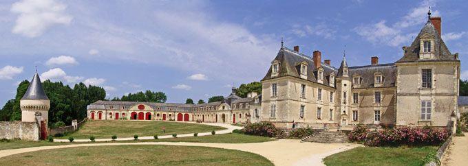Indre et Loire. : Panoramique été du château de Gizeux