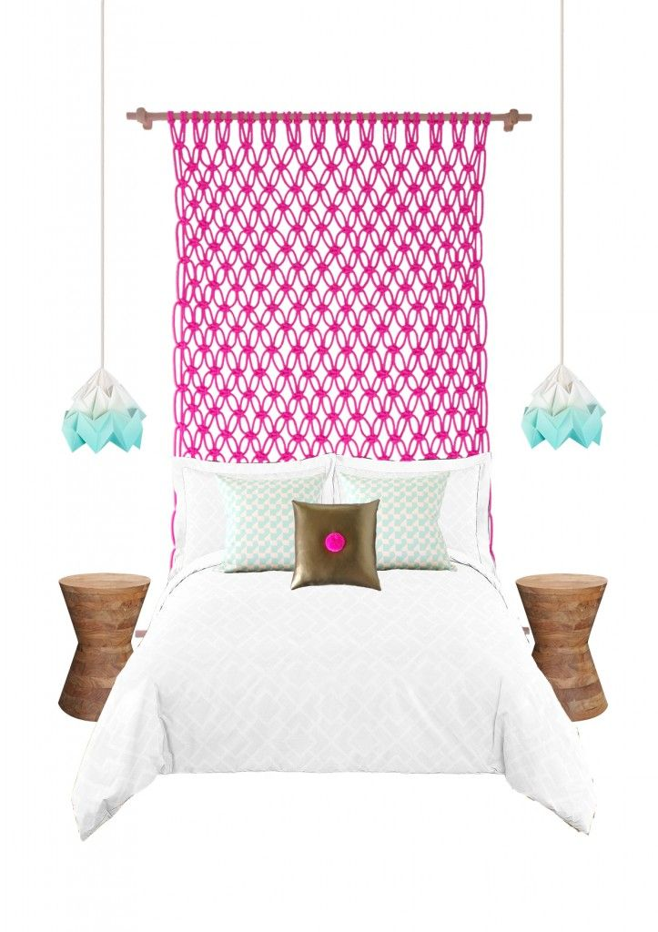 Macrame neon bedheads, for big kids and small