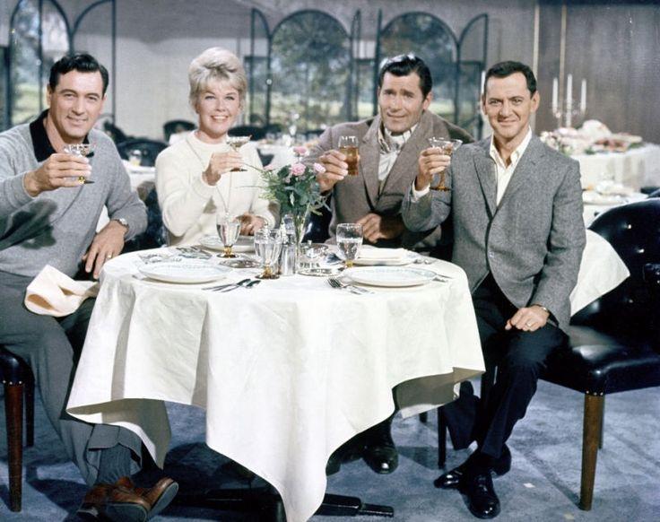 Doris Day, Rock Hudson, Tony Randall, and Clint Walker.