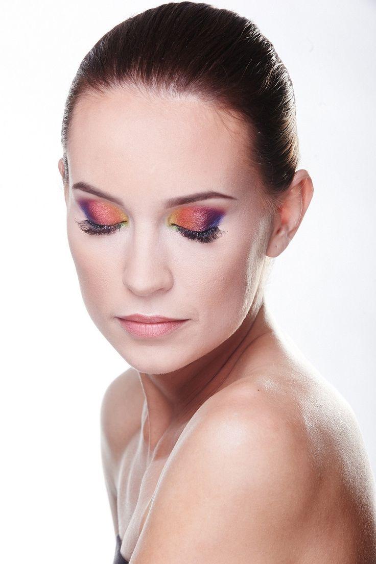 kolorowy makijaż ślub