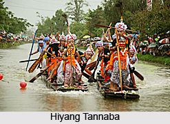 Hiyang Tannaba is a traditional game of Manipur. The sport involves boat race during the festival of Lai Haraoba. for more information visit the page. #festival #sports #ruralindia