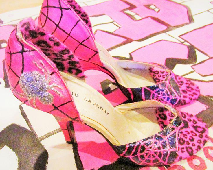 Spider heels. Customised by Acid Age.