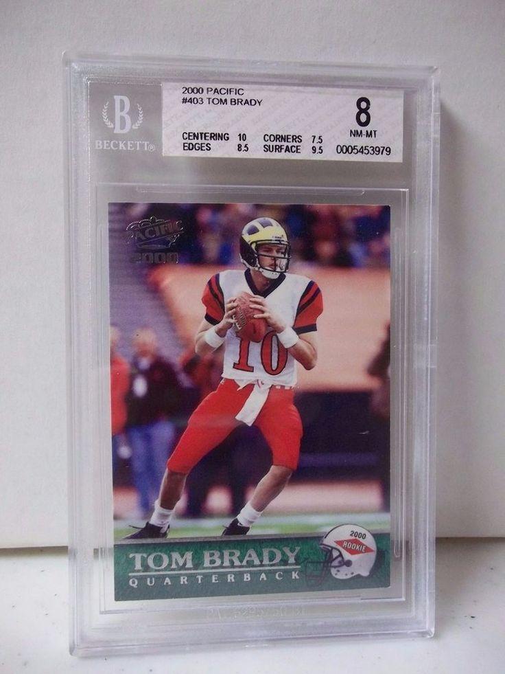2000 Pacific Tom Brady Rookie BGS Graded NMMT 8 Football