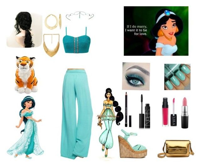"""""""Modern Jasmine"""" by daughter-of-love-goddess ❤ liked on Polyvore featuring Disney, Forever 21, Gimmicks, Arden B., Ross-Simons, Qupid, Marni, Givenchy, NARS Cosmetics and MAC Cosmetics"""