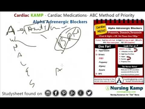 Cardiac medication Alpha Blockers Tamsulosin Nursing KAMP NCLEX MEDS