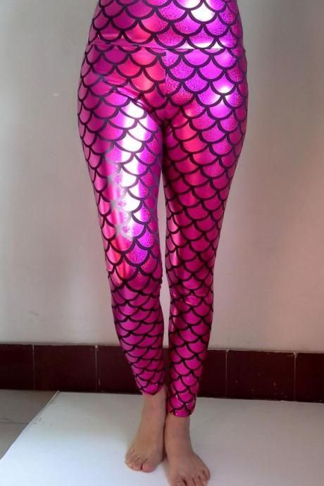 Mermaids Woman Leggings- Printed Leggings- Leggings- Pants- Tights-