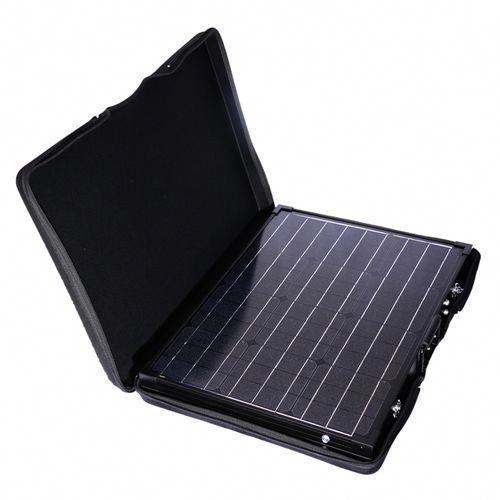 100 Watt 12 Volt Monocrystalline Foldable Solar Suitcase W O Controller In 2020 Portable Solar Panels Solar Panels Best Solar Panels