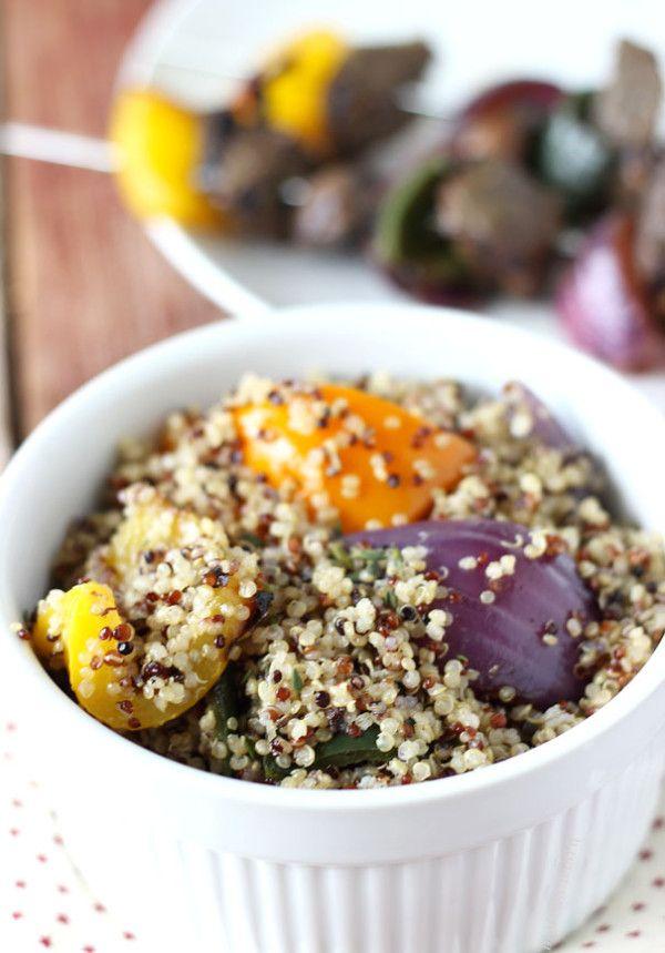 Grilled Vegetable Quinoa Salad | Blahnik Baker: Mills Giveaways, Easy Side, Lights Dinners, Grilled Vegetables, Quinoa Salad, Summer Night, Vegetables Quinoa, Bobs Red Mills, Blahnik Baker