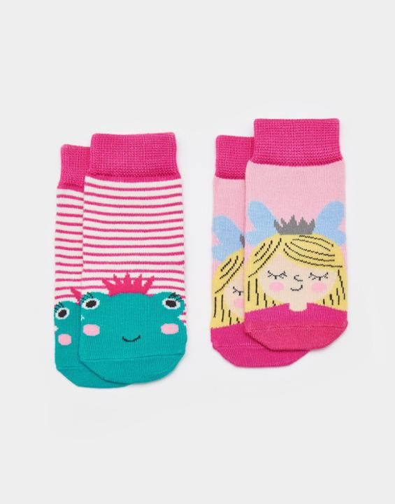 Joules Neat Feet Baby Girls Two Pack Bamboo Socks