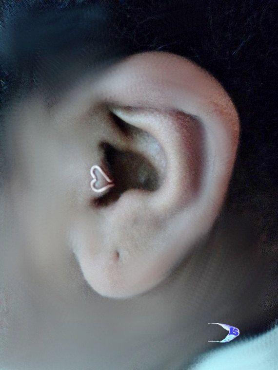 Sale Kawaii Heart Ear Cuff / Daint  Tragus by SalmonNaturals, $8.00