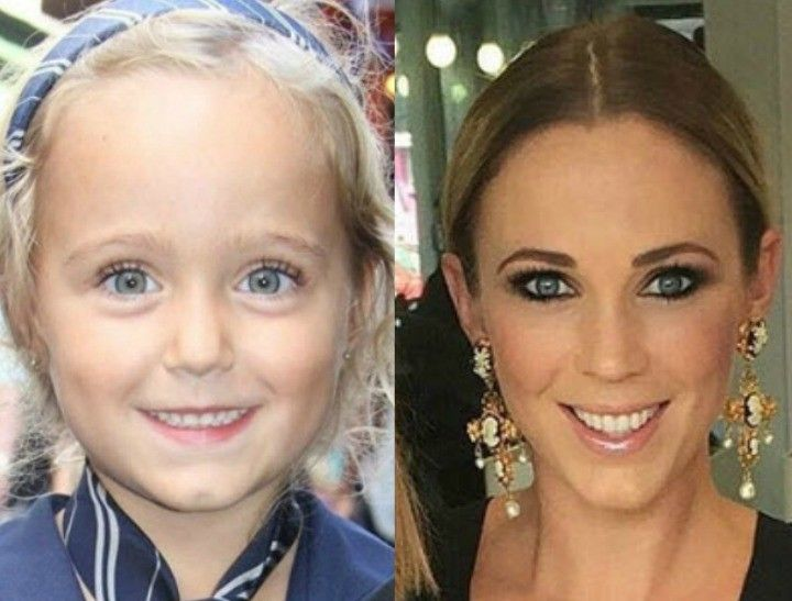 Bec Hewitt and her five-year-old daughter are practically identical.
