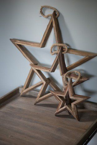 Wooden Star Large, Medium or Small