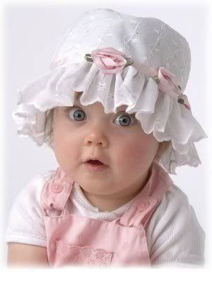 Cute or what?  I put this kind of hat on my girls over 40 years ago... Some things just don't go out of style.