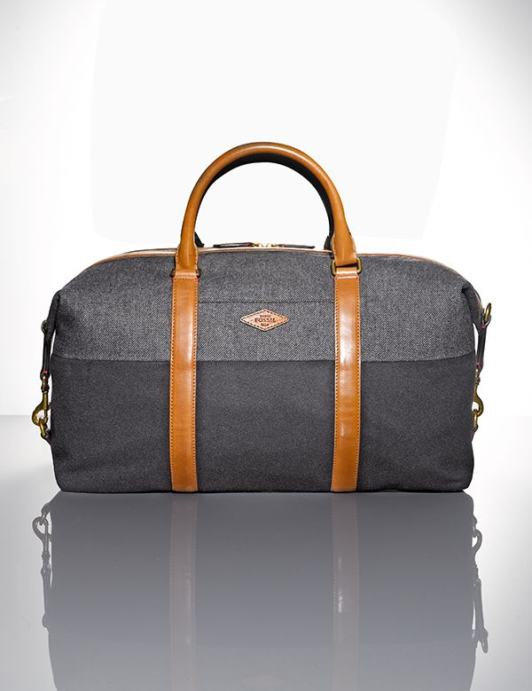 Your next favorite Fall accessory is sooo in the bag — Fossil Campbell weekender bag for men