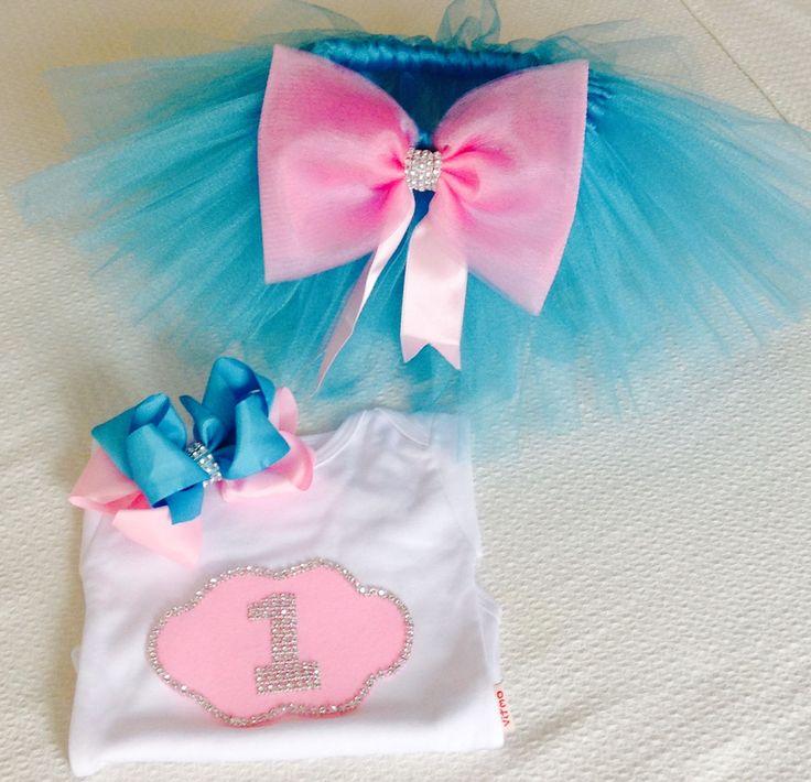 Mavi Pembe Doğum Günü Tütü Takım