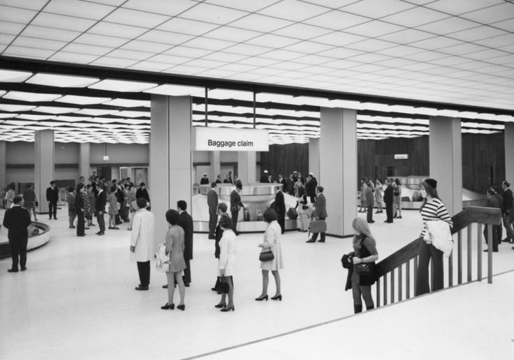 Melbourne Airport International Arrivals Hall 1970