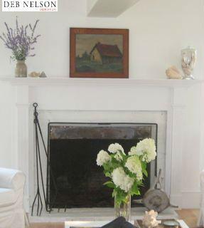 Close up fireplace
