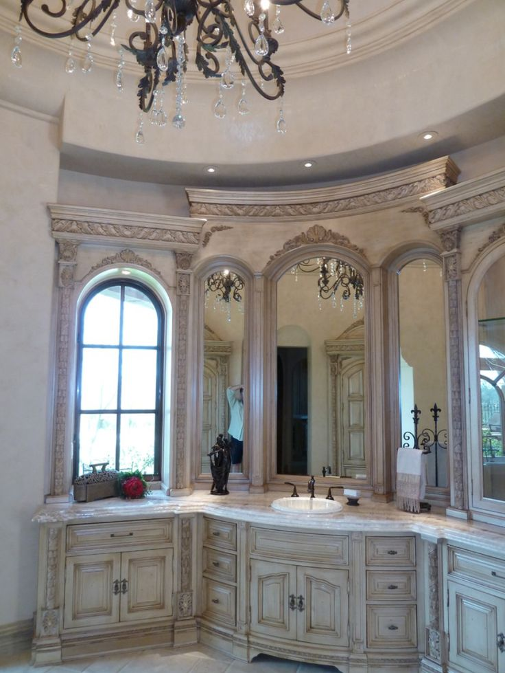 1000 ideas about luxury master bathrooms on pinterest tuscan bathroom decor tuscan bathroom - Luxury venities ...