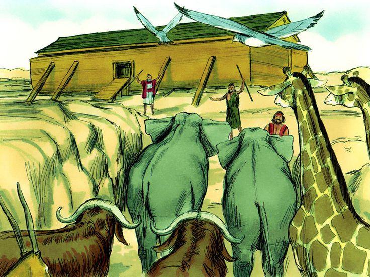 6.lépés:a képek megnzése után röviden ird le Nóé történetét!