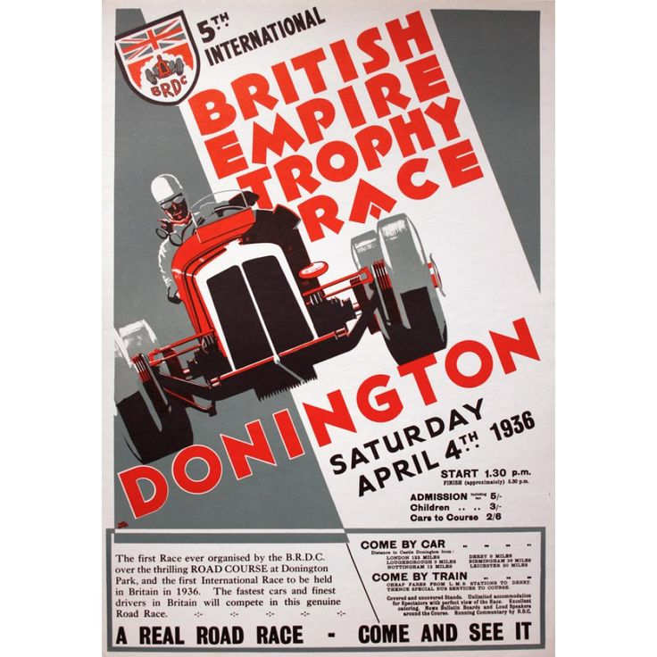 images of british grand prix posters | GrandPrix Posters : Donington 1936 Grand Prix Poster