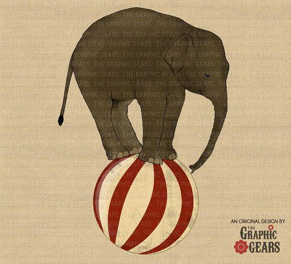 vintage elephant clip art - photo #34