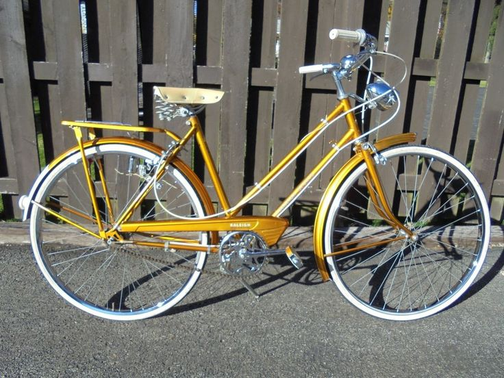 1972 RALEIGH SPORTS LADIES ENGLISH ROADSTER BICYCLE RARE ALL GOLD EDITION NICE
